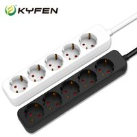 German type outlet power strip ,5 outlets Extension Socket with cable and plug