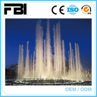 colorful music dancing fountain, floating lake fountain