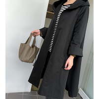 Sandro Hood jp, hood design and sophisticated A-line jumper