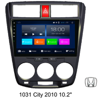 10.2'' City 2010 car GPS navigation, android system, 4G/BT/HD/FM/AM/TV