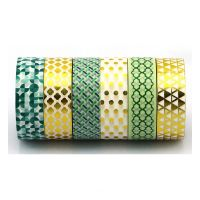 Decoration foil tape diy and hand made for kids gift wrapping paper adhesive washi masking tape
