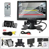 "HD 7"" TFT LCD Car Rearview Monitor 2 Video Input Night Vision Car camera Kit"