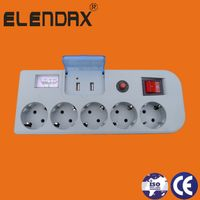 Cheap price for Extension Socket with Surge Protect&Voltage indicator&Double USB socket(E2205ES)