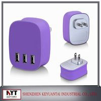 Multiple usb wall charger 5V4.5A 3 usb charger with smart IC