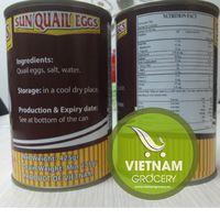 Sun Quail Egg In Brine - High Quality Vietnam Canned Quail Egg 425gr