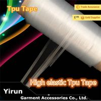 China manufacturer Mobilon TPU tape cheap price TPU tape sewing accessories T-shit loop garment acce