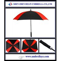 All square golf umbrella auto windproof