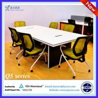 Melamine Rectangular conference table / 10 person conference table with aluminum frame thumbnail image