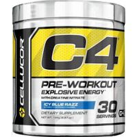Cellucor C4 Pre-Workout Explosive Energy, Ice Blue Razz - 30 servings, 6.8 oz tub