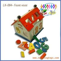 wooden toys,wooden house,figure house(LX-084) thumbnail image