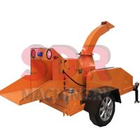 Shindery trailer wood chipper machine