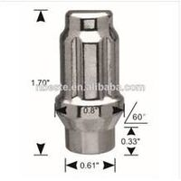 Wheel lug nuts m14x1.5 Spline and Tuner lug Nuts with 3800 spline key Anti-theft bolt and nuts thumbnail image