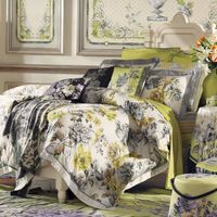 Fuanna Attracted to Fragrance 3 Pieces Set Cotton Printed King Duvet Cover and Pillow Shams
