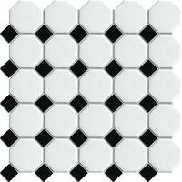 Octagonal White Ceramic mosaic