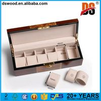 brown luxury wood watch boxes thumbnail image