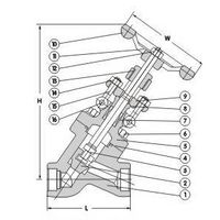 CLASS 800 Y-PATTERN FORGED GLOBE VALVE thumbnail image