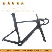 AERO DI2 System Compatible Carbon Road Bike Frame UD Weave