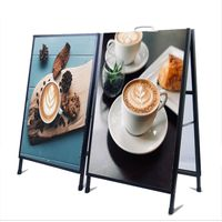 Double-side A frame Sign Holder Poster Stand