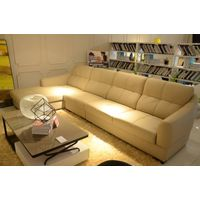 Italian leather living room sofa J865