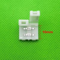 2pin 10mm Free Solder led strip Connector For 5050 5630 5730 Single Color LED Strip