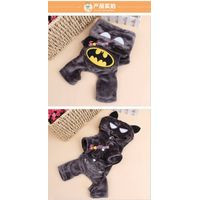 New Fashion Cartoon Dog Clothes Soft Cotton Puppy Coat Apparel Batman design thumbnail image