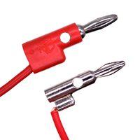 NUELEAD 1m 4mm Mini Stacking Banana Plug To Alligator Clip Cable Mini Banana Plug Test Lead thumbnail image