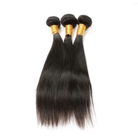 [8A]3 Bundles Peruvian Straight Hair Weave