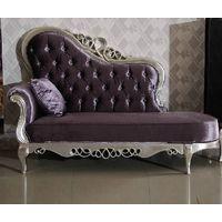 Bisini Purple Fabric Chaise Longue