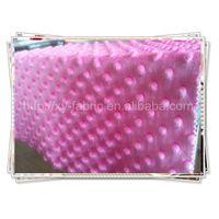 100% polyester fabric/new design of minky dots velboa/super soft velboa thumbnail image