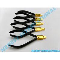 DENTAL ORTHODONTIC RETAINER BRACE CLEAR ALIGNER PLIERS SET OF 5 PCS BLACK + GOLD thumbnail image
