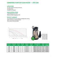 SUBMERSIBLE PUMP FOR CLEAN WATER SFSP 2CBX