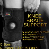 High Quality Neoprene and Nylon Breathable Knee support Brace