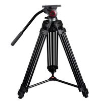 Promo miliboo Professional Portable Video Tripod with Hydraulic Head Digital DSLR Camera Stand trip