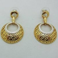 whosale newest fashion jewelry vintage earring with hollow big and small circles