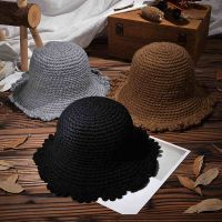 Handmade Weave Solid Color Flower Edge Autumn & Winter Warm Caps