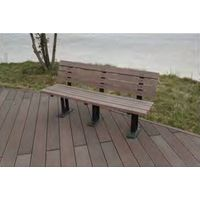 crack-resistant eco-friendly wood composite park patio bench