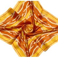 Lady's Fashion Square Silk Printed Scarf thumbnail image