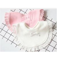 Fashion new born cotton drawstring baby bibs Slabbetjes cute girls and kids Burp cloth bibs Baby Sal