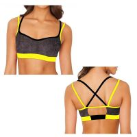 Hot design SUPPLEX fabric sexy ladies sports bra with buckler fitness wear