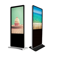 Hot Sell big zise 55 inch floor standing AD lcd digital Player kiosk advertising display