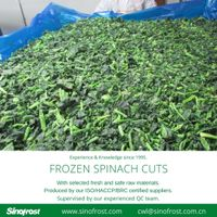 Frozen Spinach Cuts/IQF Whole Leaf Spinach Cuts thumbnail image
