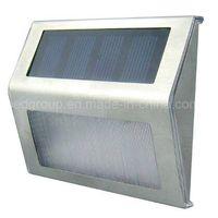 Mini Brightness Solar LED Wall Mounted Lightings LED Solar Stair Light thumbnail image