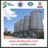 Galvanized steel grain storage silos