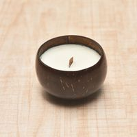 Natural unscented and scented coconut shell candles