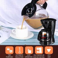 Drip Coffee Maker Machine With Overheat Protection 800W 1.25L 10Cups