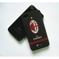 Black hard plastic cell phone skin cover for iphone 4/4s