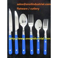 cheap flatware set with pp handle tumble polish