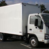Fiberglass side curtain truck box for Australia with bottom price