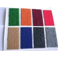 100% polyester nonwoven needle punched ribbed carpet
