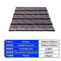 stone coated metal roof shingle tile